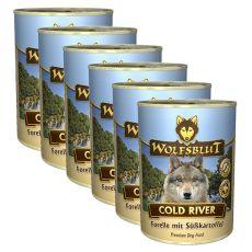 Konzerva WOLFSBLUT Cold River, 6 x 395 g