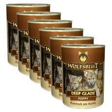 Konzerva WOLFSBLUT Deep Glade PUPPY, 6 x 395 g