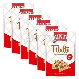 Kapsička RINTI Filetto kuře + hovězí, 6 x 100 g