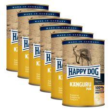 Happy Dog Pur – Kangaroo / klokan, 6 x 400g, 5+1 GRATIS