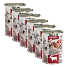New BEWI DOG konzerva – Hovězí maso 6 x 400 g, 5+1 GRATIS