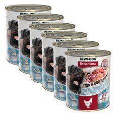 New BEWI DOG konzerva – Drůbeží srdce 6 x 800 g