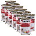 ONTARIO Konzerva pro kočku - kuřecí, krůtí a olej - 12 x400 g
