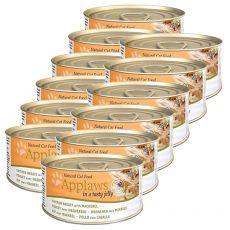 Applaws Cat Jelly - konzerva pro kočky s kuřetem a makrelou, 12 x 70g