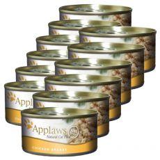 Applaws Cat - konzerva pro kočky s kuřecími prsy, 12 x 70g