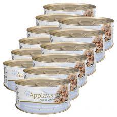 Applaws Cat - konzerva pro kočky s tuňákem a sýrem, 12 x 70g