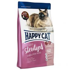Happy Cat Sterilised Voralpen Rind / Hovězí 10 kg