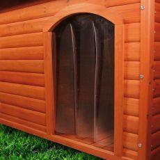 Dvířka na boudu pro psa, plastová – 32 x 43 cm