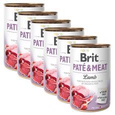 Konzerva Brit Paté & Meat Lamb 6 x 400 g