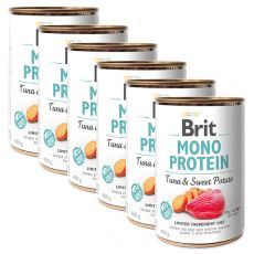 Konzerva Brit Mono Protein Tuna & Sweet Potato 6 x 400 g