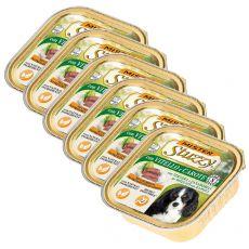 Vanička Mister STUZZY Dog – telecí a mrkev, 6 x 150 g