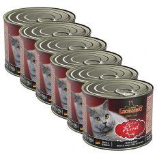 Konzerva pro kočky Leonardo, hovězí 6 x 200 g