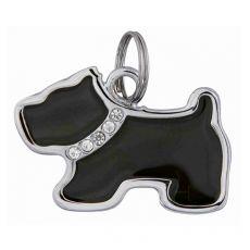 Adresář pro psa – kovový pejsek, 35 x 25 mm
