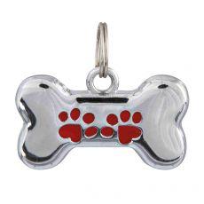 Adresář pro psa – kovová kostička, 35 x 20 mm