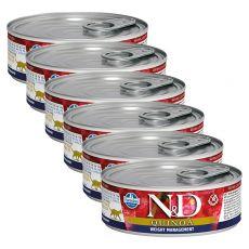 Farmina N&D cat Quinoa Weight Management konzerva 6 x 80 g