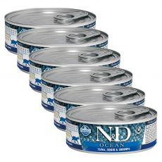 Farmina N&D cat tuna, squid & shrimp konzerva 6 x 80 g