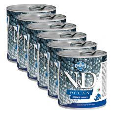 Farmina N&D dog Herring & Shrimps konzerva 6 x 285 g