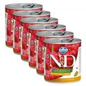 Farmina N&D dog Quinoa Quail & Coconut 6 x 285 g, 5+1 GRATIS
