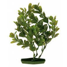 Rostlinka do akvária - plastová, 25 cm kulaté zelené listy