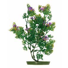 Rostlinka do akvária - plastová, 25 cm fialové květy