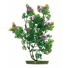 Rostlina do akvária - plastová, 28 cm fialové květy