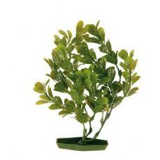 Rostlinka do akvária - plastová, 17 cm zelené listy