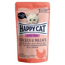 Kapsička Happy Cat ALL MEAT Kitten Junior Chicken & Pollack 85 g