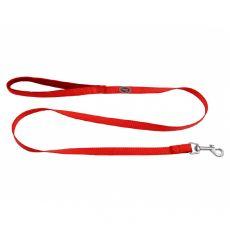 Červené vodítko s neoprenovou rukojetí 1,2 m / 15 mm