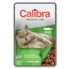 CALIBRA Cat Adult Sterilised kousky s lososem v omáčce 100 g