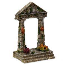 Dekorace do akvária Zřícenina chrámu 9,5 x 7 x 15 cm