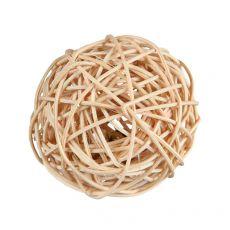 Ratanový míč se zvonkem pro hlodavce 4 cm