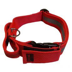 Červený bezpečnostní obojek s rukojetí 47–75 cm, 50 mm