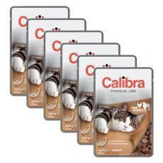 CALIBRA Cat Adult jehněčí a drůbeží kousky v omáčce 6 x 100 g