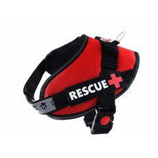 Postroj pro psy Rescue S 45–55 cm, červený