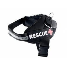 Postroj pro psy Rescue XXL 80–110 cm, černý