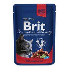 Kapsička BRIT Premium Cat Beef Stew & Peas 100 g