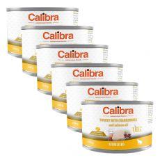 Calibra Cat Sterilised GF – Krůta s brusinkami a lososovým olejem, konzerva 6 x 200g