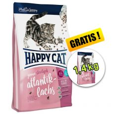 Happy Cat Junior Sterilised Atlantik-Lachs 1,4 kg + 1,4 kg GRATIS