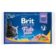 Kapsičky BRIT Premium Cat Fish Plate 4 x 100 g