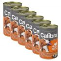 Konzerva Calibra Dog Adult krůta, kuře a těstoviny v želé, 6 x 1240g