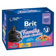 Kapsičky BRIT Premium Cat Family Plate 12 x 100 g