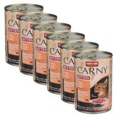 Krmivo CARNY KITTEN hovězí, telecí + kuře 6 x 400 g