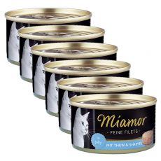 Konzerva Miamor Filet tuňák a krevety 6 x 100 g