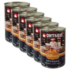 Konzerva ONTARIO Culinary Chickpea, Chicken and Curry 6 x 400 g