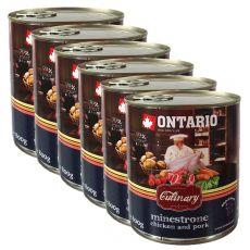 Konzerva ONTARIO Culinary Minestrone Chicken and Pork 6 x 800 g
