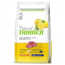 Trainer Natural Small and Toy Adult, hovězí a rýže 2 kg