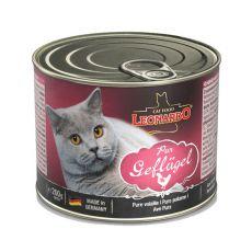 Konzerva pro kočky Leonardo - Drůbež 200 g