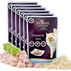 Kapsička NUEVO CAT Light Chicken & Rice 6 x 85 g, 5 + 1 GRATIS