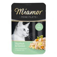 Kapsička Miamor Feine Filets tuňák a zelenina v želé 100 g