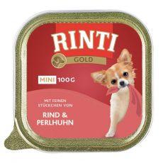Konzerva Rinti Gold Mini Adult hovězí a perlička 100 g